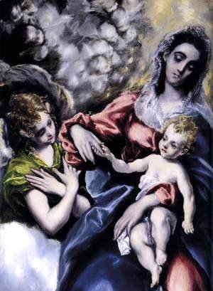 El Greco - The Virgin and Child with St Martina and St Agnes (detail) 1597-99