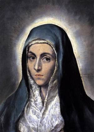 El Greco - The Virgin Mary 1594-1604