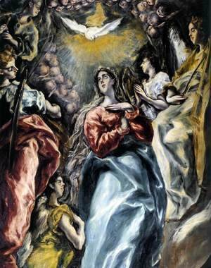 El Greco - The Virgin of the Immaculate Conception (detail 1) 1608-13