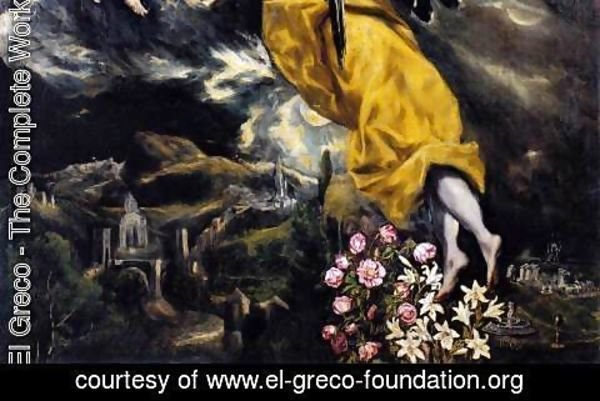 El Greco - The Virgin of the Immaculate Conception (detail 3) 1608-13
