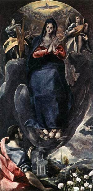 El Greco - The Virgin of the Immaculate Conception and St John c. 1585