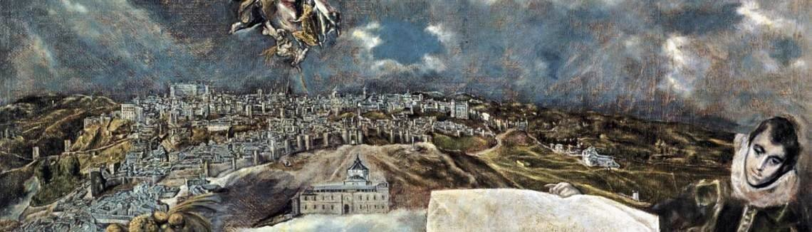 El Greco - View and Plan of Toledo c. 1610